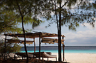 Lounge area with mattresses on beach on Mnemba Island, Zanzibar archipelago. http://www.gettyimages.com/detail/photo/lounges-on-island-beach-zanzibar-tanzania-royalty-free-image/92063746