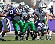 Marshall running back Ahmad Bradshaw (44) brakes up the middle against Kansas State at Bill Snyder Family Stadium in Manhattan, Kansas, September 16, 2006.  The Wildcats beat the Thundering Herd 23-7.