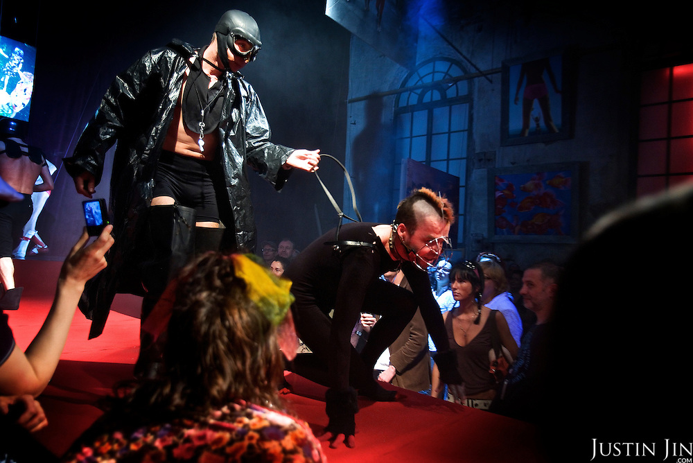 Artists perform a show at Moscow's Gazgolder nightclub, one of the city's new and exclusive venues.