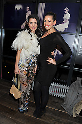 Left to right, GRACE WOODWARD and OLIVIA LEE at the InStyle Best of British Talent Event in association with Lancôme and Charles Worthington held at The Rooftop Restaurant, Shoreditch House, Ebor Street, E1 on 26th January 2012.