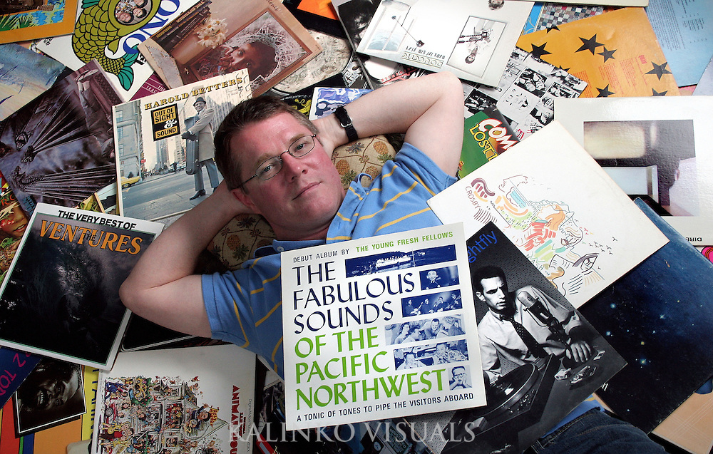 "01.04.07/Lance Lindell/CJT.***NEI***.Lance Lindell, 45, a technical writer who grew up and has lived in Bellingham his whole life wrote an article about the rock 'n' roll music scene that existed in Bellingham from the 1960s to the 1990s in a recent edition of The Journal of the Whatcom County Historical Society. ""When the 3B closed it was sort of the end of an era,"" Lindell said sadly after explaining one of the reasons he wrote his article. ""I've always had an interest in local bands and wanted to expose the Bellingham scene for what it was."" Lindell will be presenting a free to the public multimedia short on the bands and bars of that time that will include audio and visual slides Jan 11., in the rotunda room of the Whatcom Museum of History and Art in Bellingham. The event starts at 7:30 p.m. Bellingham Herald Photo by Chris Joseph Taylor. ."