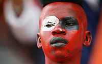 Photo: Steve Bond/Richard Lane Photography.<br />Egypt v Angola. Africa Cup of Nations. 04/02/2008. ghanaian painted in Egypt colours