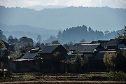Apatani village<br /> Apatani Tribe<br /> Ziro Valley, Lower Subansiri District, Arunachal Pradesh<br /> North East India
