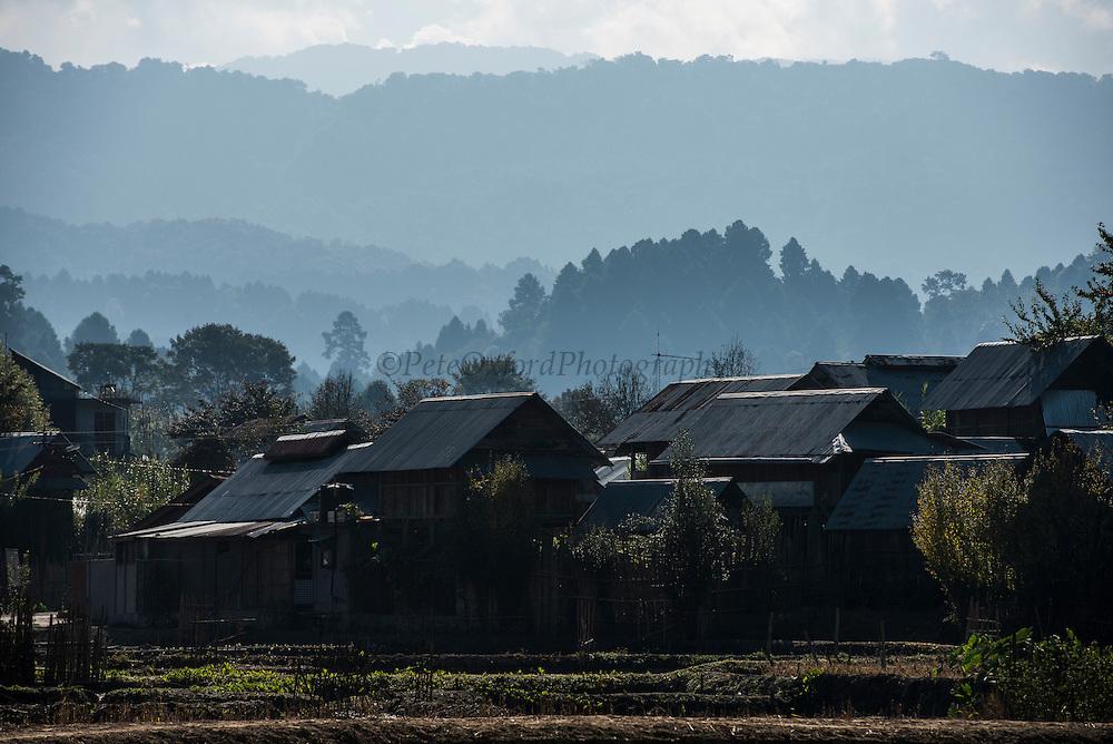 Apatani village<br /> Apatani Tribe<br /> Ziro Valley, Lower Subansiri District, Arunachal Pradesh<br /> North East India