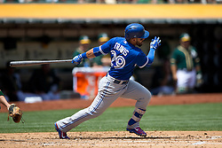 OAKLAND, CA - JULY 23:  Devon Travis #29 of the Toronto Blue Jays at bat against the Oakland Athletics during the second inning at O.co Coliseum on July 23, 2015 in Oakland, California. The Toronto Blue Jays defeated the Oakland Athletics 5-2. (Photo by Jason O. Watson/Getty Images) *** Local Caption *** Devon Travis