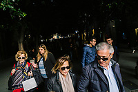 """NAPLES, ITALY - 24 NOVEMBER 2018: People walk in Via Chiaia in Naples, Italy, on November 24th 2018.<br /> <br /> My Brilliant Friend (Italian: L'amica geniale) is an Italian-American drama television miniseries based on the novel of the same name by Elena Ferrante. The series follows the lives of two perceptive and intelligent girls, Elena (sometimes called """"Lenù"""") Greco and Raffaella (""""Lila"""") Cerullo, from childhood to adulthood and old age, as they try to create lives for themselves amidst the violent and stultifying culture of their home – a poor neighborhood on the outskirts of Naples, Italy. My Brilliant Friend is a co-production between American premium cable network HBO and Italian networks RAI and TIMvision"""