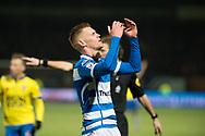 Voetbal Leeuwarden Eredivisie 2014-2015 SC Cambuur - PEC Zwolle: L-R Maikal van der Werff van PEC Zwolle