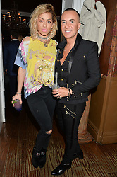 RITA ORA and JULIEN MACDONALD at a dinner for JF London x Kyle DeVolle held at Beach Blanket Babylon, Ledbury Road, London on 29th September 2016.