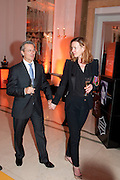 DEE STIRLING; DAVID GIAMPAOLO, The Veuve Clicquot Businesswoman of the Year  Award. Claridge's, London.  March 28 2011. ,-DO NOT ARCHIVE-© Copyright Photograph by Dafydd Jones. 248 Clapham Rd. London SW9 0PZ. Tel 0207 820 0771. www.dafjones.com.