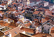 PORTUGAL, LISBON Alfama area, oldest part of the city; a labyrinth of narrow, winding streets with cafes, fado bars and antique shops