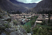 Incan town of Ollantaytambo, Cuzco department, Peru