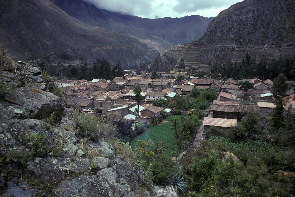Incan town of Ollantaytambo, Cuzco department, Peru