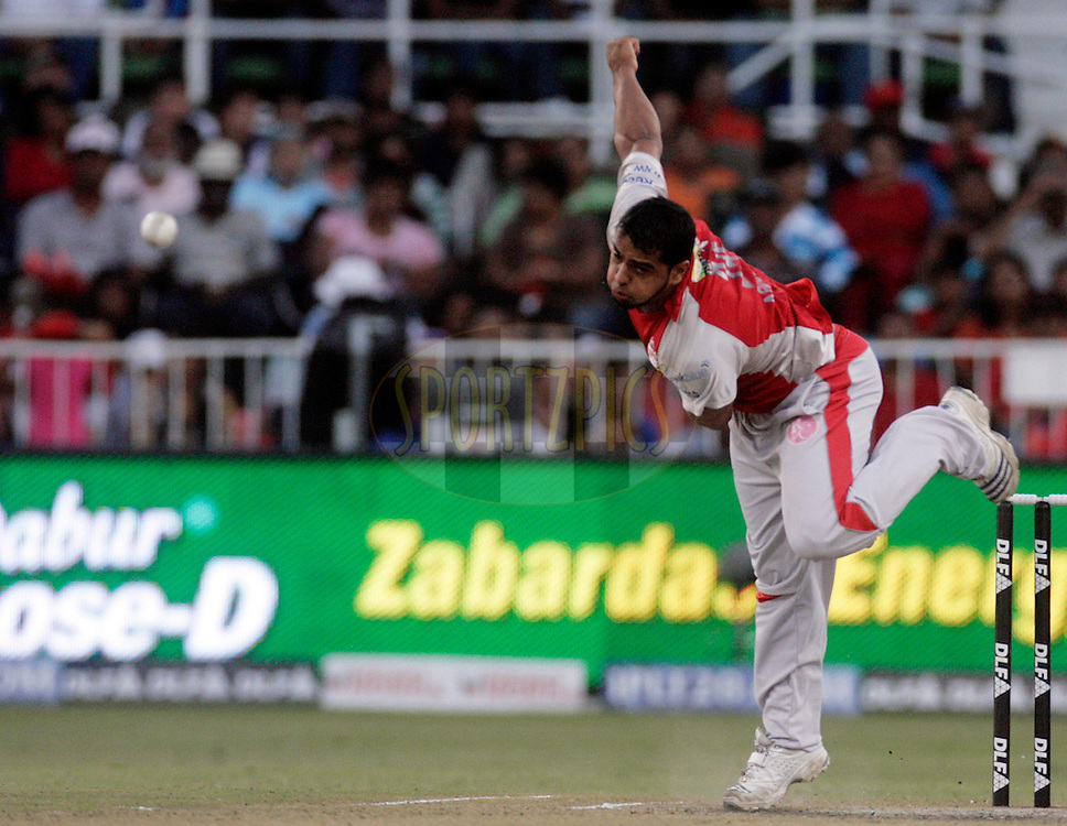 DURBAN, SOUTH AFRICA - 1 May, 2009. Yusuf Abdulla bowls during the IPL Season 2 match between Kings X1 Punjab and the Royal Challengers Bangalore held at Sahara Stadium Kingsmead, Durban, South Africa.