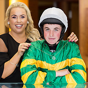 08.09. 2017.                             <br /> Launching Limerick Racecourse and Keanes Most Stylish Lady at Limerick Racecourse and Keanes Most Stylish Lady were, Jockey, Donal McInerney and Sinead O'Brien, Sineads Curvy Style. Picture: Alan Place