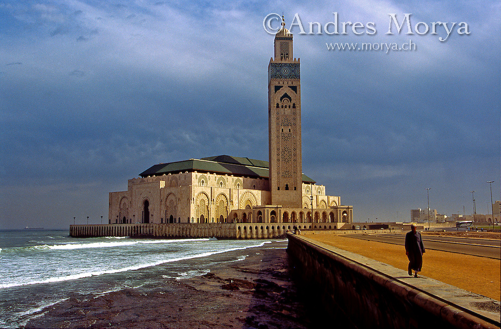 Great Hassan ii Mosque, Casablanca, Morocco Image by Andres Morya