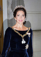 Copenhagen, 01-01-2016<br /> <br /> Queen Margrethe and Prince Henrik, Crown Prince Frederik and Crown Princess Mary , Prince Joachim and Princess Marie attend the New Years Levee At Amalienborg Palace<br /> <br /> Photo; Royalportraits Europe/Bernard Ruebsamen
