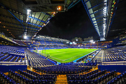 General view of the Stamford Bridge stadium ahead of the Premier League match between Chelsea and Aston Villa at Stamford Bridge, London, England on 4 December 2019.
