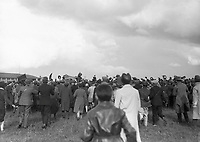 H763<br /> <br /> Bremen Flight 1928.<br /> <br /> View of plane on land with crew waving on top of it, surrounded by large crowd of people.<br /> <br /> (The first east-west non-stop transatlantic flight, in April 1928, from Baldonnel, Ireland to Greenly Island, Canada, in a Junkers W 33 monoplane, the &quot;Bremen&quot;. Crew of the Bremen: Pilot Capt. Herman K&ouml;hl, Navigator Col. Major James Fitzmaurice and Baron Ehrenfried G&uuml;nther Freiherr von H&uuml;nefeld, Owner of the plane).<br /> <br /> The Bremen left Baldonnel Aerodrome, Ireland on April 12 and flew to Greenly Island, Canada, (about 1,200 miles from New York) arriving on April 14, 1928, after a flight fraught with difficult conditions and compass problems. The crew consisted of pilot Captain Hermann K&ouml;hl; the navigator, Major James Fitzmaurice, and the owner of the aircraft, Ehrenfried G&uuml;nther Freiherr von H&uuml;nefeld.<br /> (Part of the NPA and Independent Newspapers)