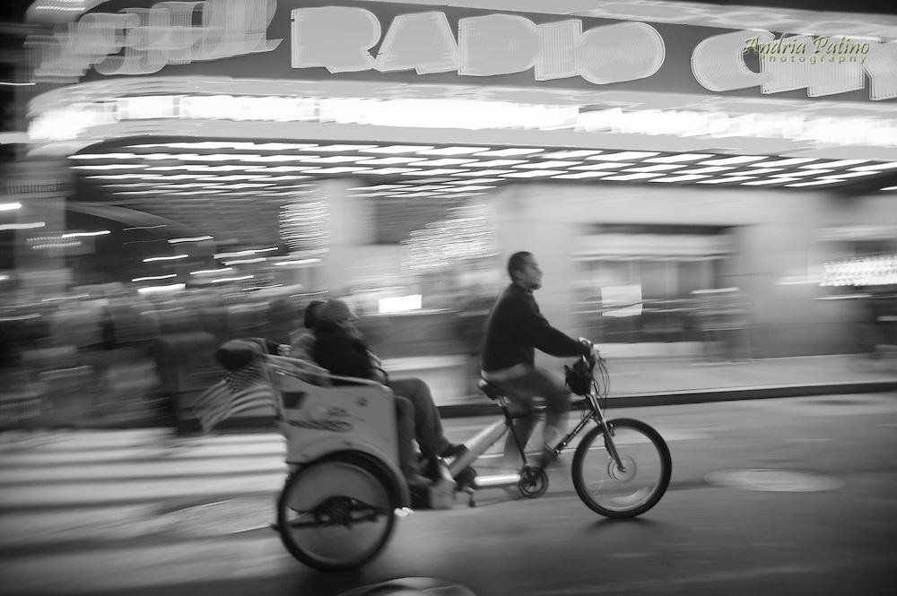 Pedicab Riding Pass Radio City Music Hall, New York