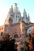 SPAIN, CATALONIA, BARCELONA the Sagrada Corazon on Tibidabo Mountain overlooking the city