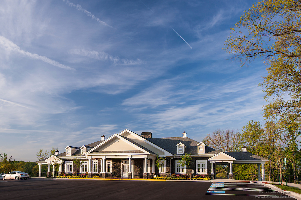 Exterior photo of Recreation  center building at Beechtree Community in MD