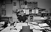 Paul Conroy at the Stiff Records Office