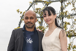 © Licensed to London News Pictures. 10/06/2013. ENB Dancer Tamara Rojo & choregrapher/dancer/ Akram Khan appear together as English National Ballet announces exciting plans for the new 2014 season.  At The Dorchester, London.  Choreographers Akram Khan, Russell Maliphant and Liam Scarlett will be creating works honouring the 100th anniversary of the Great War, and dancer Carlos Acosta is set to guest alongside Tamara Rojo in Romeo and Juliet. Photo credit: Tony Nandi/LNP