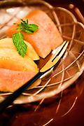 Fresh peaches at Hiiragi-ya Ryokan.