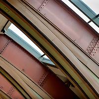 Nederland, Amsterdam, 7 juli 2017.<br />Akzo Nobel is ingehuurd  bij Carr&eacute;,<br />ivm de renovatie waarbij Akzo de verf voor zijn rekening neemt, waarbij wordt uitgegaan van de oude verven die ooit zijn gebruikt. Ze doen nu hetzelfde bij het Concertgebouw (en eerder bij het Rijks) We lopen met een verfdeskundige door het gebouw.<br />Op de foto: Gerenoveerde ruimte boven in Carr&eacute;.<br /><br /><br /><br />Foto: Jean-Pierre Jans