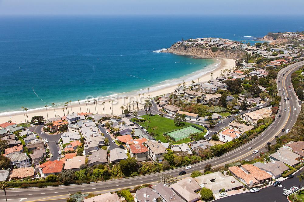 Emerald Bay Laguna Beach Coastline Aerial Photo
