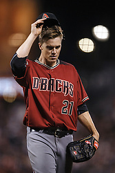 SAN FRANCISCO, CA - APRIL 20: Zack Greinke #21 of the Arizona Diamondbacks returns to the dugout after being relieved during the seventh inning against the San Francisco Giants at AT&T Park on April 20, 2016 in San Francisco, California. The Arizona Diamondbacks defeated the San Francisco Giants 2-1. (Photo by Jason O. Watson/Getty Images) *** Local Caption *** Zack Greinke