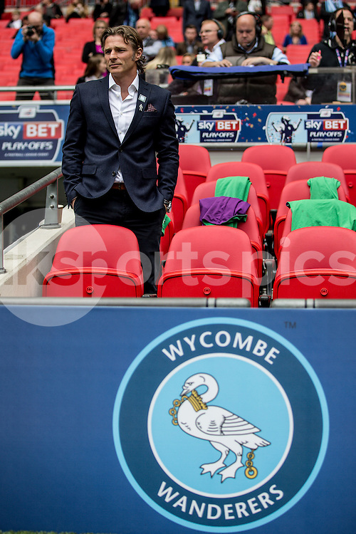 Wycombe Wanderers Manager Gareth Ainsworth during the Sky Bet League 2 Play-Off Final match between Southend United and Wycombe Wanderers at Wembley Stadium, London, England on 23 May 2015. Photo by Liam McAvoy.