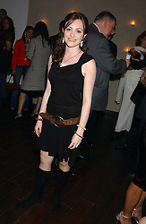 Singer CASSIE COMPTON who was a finalist in TV's X factor at a party to celebrate the opening in London of Delhi's finest Indian restaurant Moti Mahal at 45 Great Queen Street, London WC2 on 27th July 2005.<br />