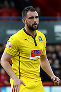 Peter Hartley during the Sky Bet League 2 match between Cheltenham Town and Plymouth Argyle at Whaddon Road, Cheltenham, England on 28 March 2015. Photo by Alan Franklin.