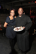 28 April 2011- New York,  NY-  Harriette Cole and Chef Jesse at The Sparkling Celebration for the Birthday of Harriete Cole held at the Galapagos Art Space on April 27, 2011 in Brooklyn, NY Photo Credit: Terrence Jennings