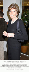 LADY JANE SPENCER-CHURCHILL at a party in London on 6th March 2003.	PHR 51