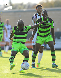 Drissa Traore of Forest Green Rovers shoots at the goal - Mandatory by-line: Nizaam Jones/JMP - 28/10/2017 - FOOTBALL - New Lawn Stadium - Nailsworth, England - Forest Green Rovers v Morecambe - Sky Bet League Two