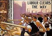 Poster used by the Labour Party in the run up to the January 1910 General Election. At the time, the House of Lords had blocked Lloyd George's redistributive 'People's Budget'. Labour increased its MPs from 29 to 40 in this election.