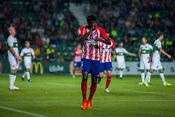 October 25, 2017 - Elche, Elche, Spain - Thomas of Atletico de Madrid celebrates a goal during the Spanish Copa del Rey (King's Cup) round of 32 first leg football match between.Elche CF and Atletico de Madrid at the Martinez Valero stadium in Elche (Credit Image: © Sergio Lopez/Pacific Press via ZUMA Wire)