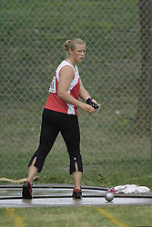 Patterson, Heather competing in the women's hammer throw final at the 2007 OTFA Junior-Senior Championships held in Ottawa from 30 June to July 1.