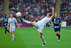COVENTRY, ENGLAND - Friday, August 3, 2012: Canada's Rhian Wilkinson during the Women's Football Quarter-Final match between Great Britain and Canada, on Day 7 of the London 2012 Olympic Games at the Rioch Arena. Canada won 2-0. (Photo by David Rawcliffe/Propaganda)