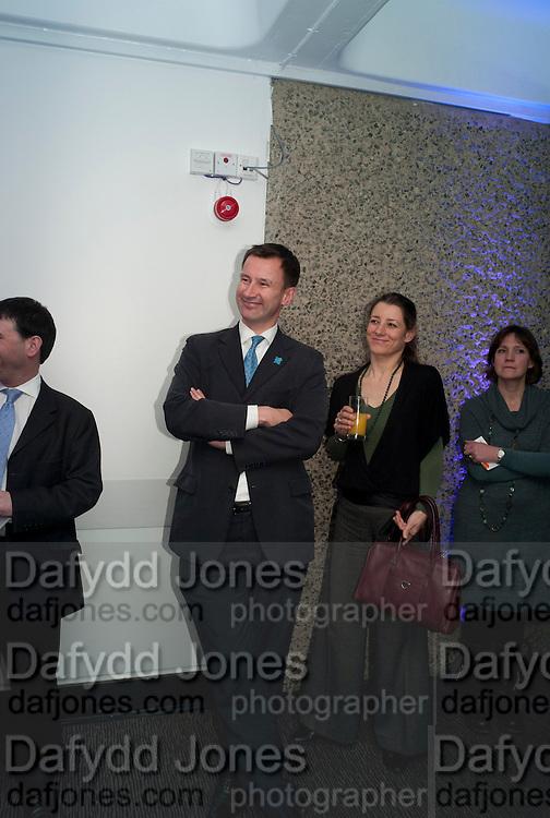 JEREMY HUNT; BARBARA JOBMANN, LA Philharmonic reception, Fountain room, Barbican. 27 January 2011 -DO NOT ARCHIVE-© Copyright Photograph by Dafydd Jones. 248 Clapham Rd. London SW9 0PZ. Tel 0207 820 0771. www.dafjones.com.