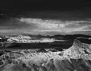 Storm clouds over Zabriskie Point, Death Valley National Park, California