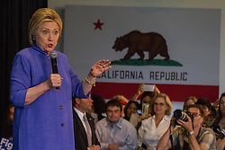 Hillary Clinton speaking on June 3rd, 2016 in Westminster California.