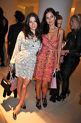 Left to right, LAUREN KEMP and YASMIN MILLS at the St.Martins Lane Hotel 10th year bash held on 9th September 2009.