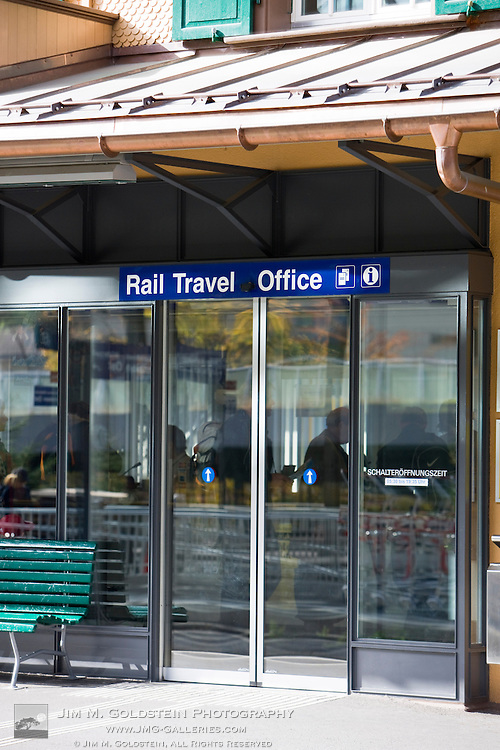 Rail travel office - Lauterbrunnen, Switzerland