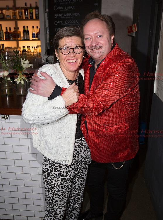OSLO, 20160107: TV-suksessen 4 stjerners middag fortsetter med nye kjendiser som inviterer til middag hos hverandre. Ingrid Kristiansen og Stephen Ackles. FOTO: TOM HANSEN