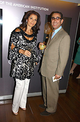 DR DAVID & MRS KHALILI at the opening reception of 'Bejewelled by Tiffany 1837-1987' at The Gilbert Collection, Somerset House, London on 21st June 2006.