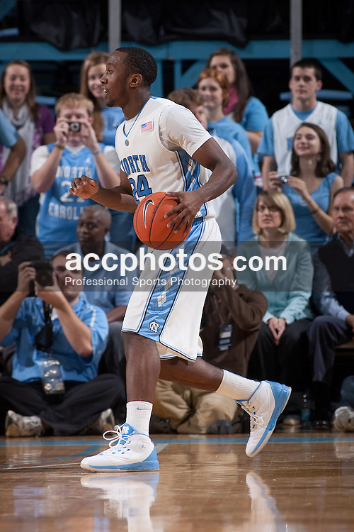 12 December 2009: North Carolina Tar Heels guard Justin Watts (24) during a 62-93 win over the Presbyterian Blue Hoes at the Dean E. Smith Center in Chapel Hill, NC.