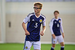 EDINBURGH, SCOTLAND - Sunday, October 30, 2016: Scotland's Jamie Walker in action against Northern Ireland during the opening match of the Under-16 2016 Victory Shield at ORIAM. (Pic by David Rawcliffe/Propaganda)